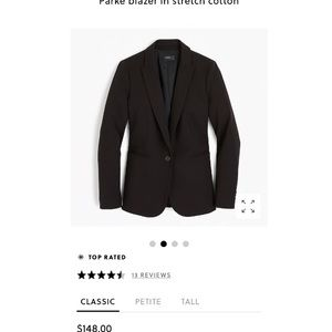 J. Crew Parke Blazer in stretch cotton
